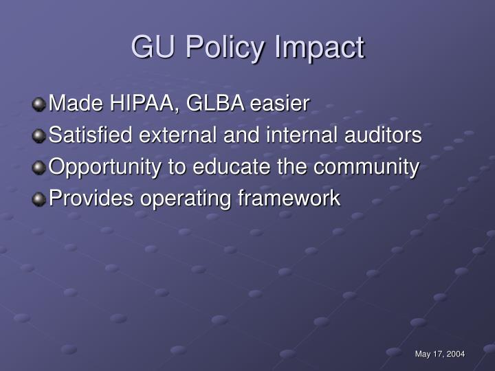 GU Policy Impact