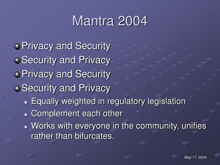 Mantra 2004