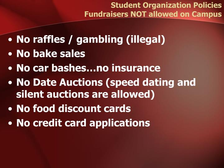Student Organization Policies