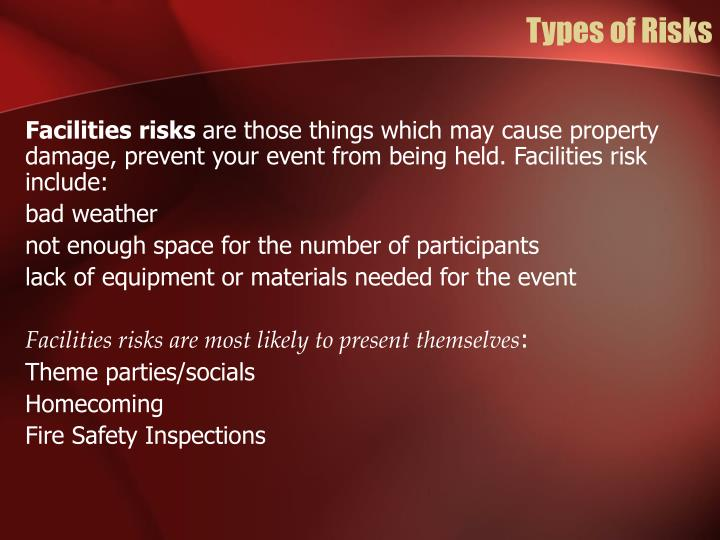 Types of Risks