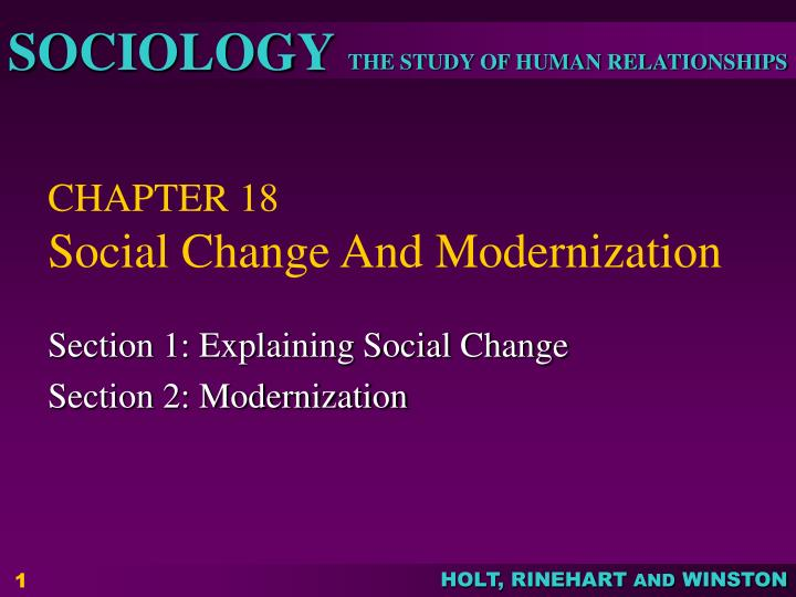 Chapter 18 social change and modernization