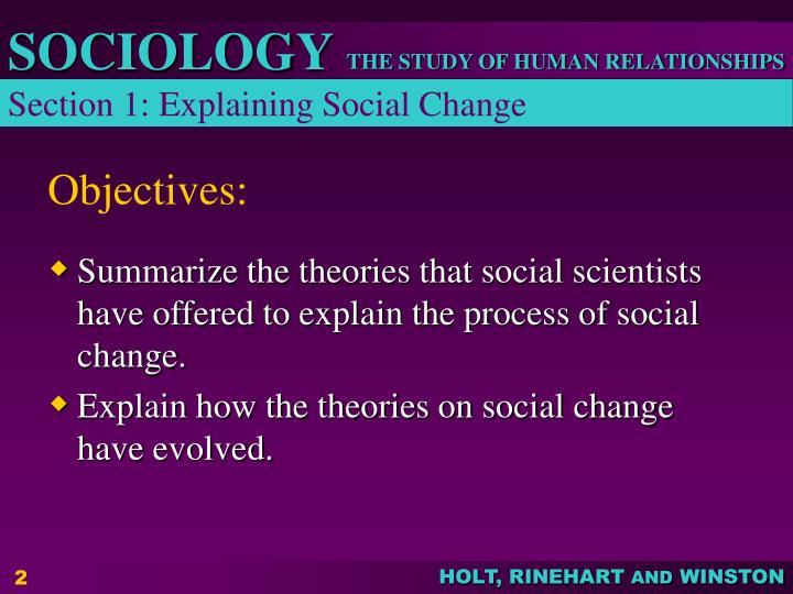 Section 1: Explaining Social Change