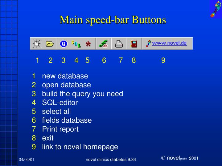 Main speed-bar Buttons