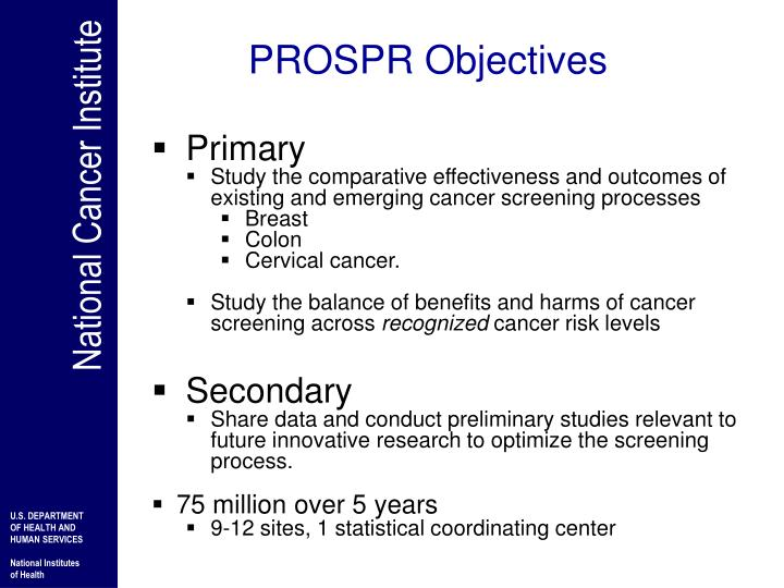 PROSPR Objectives