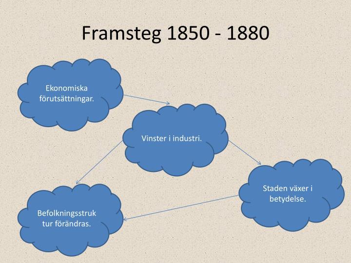 Framsteg 1850 - 1880