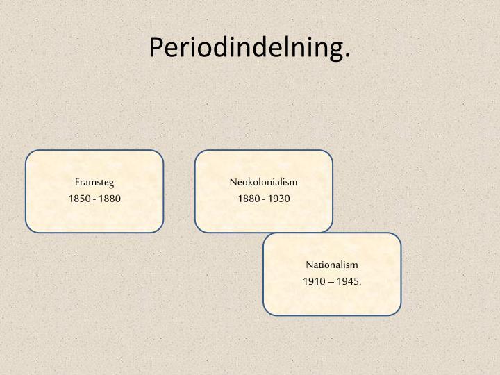 Periodindelning.
