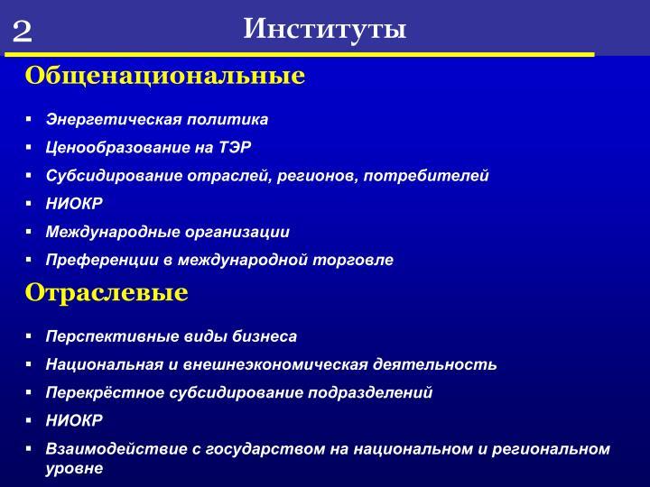 Институты