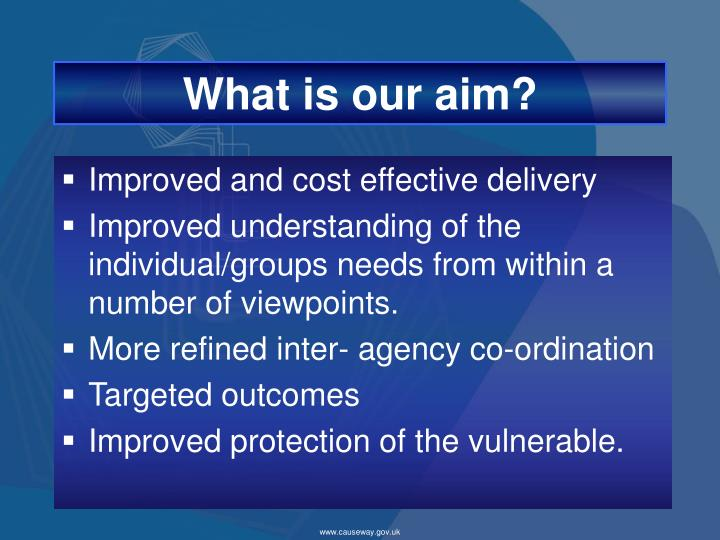 What is our aim?