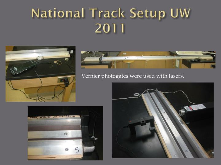 National Track Setup UW 2011