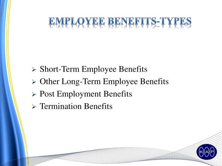 Employee benefits-types