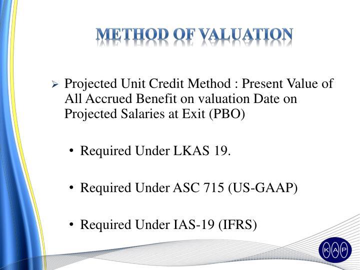 Method Of Valuation