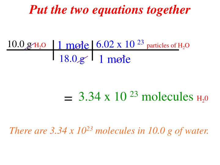 Put the two equations together