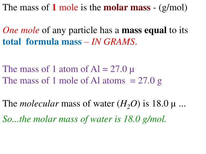 The mass of