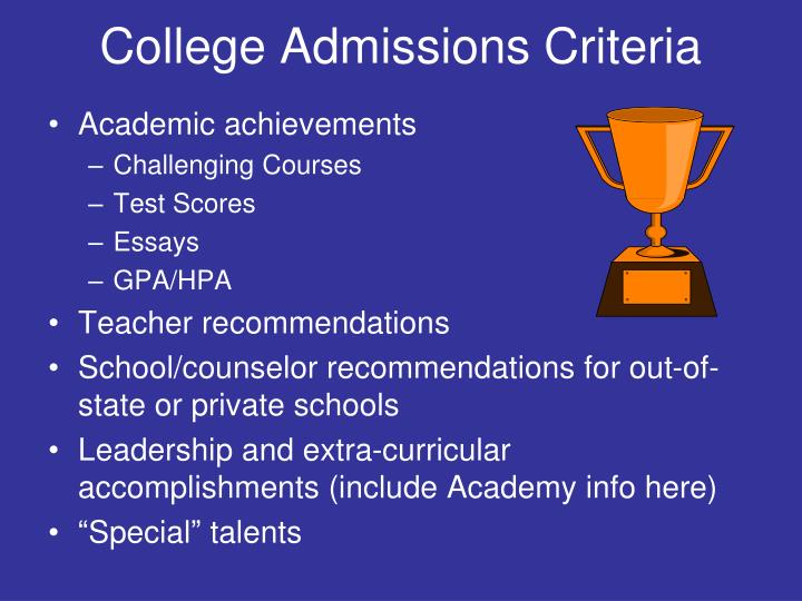 College Admissions Criteria