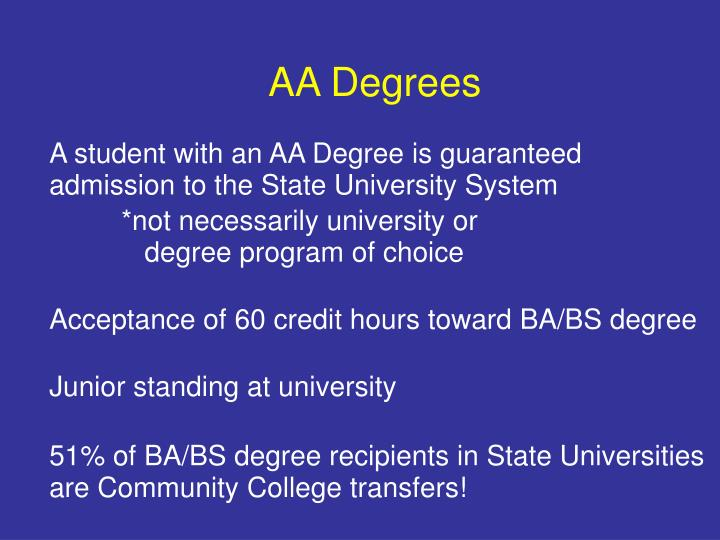 AA Degrees