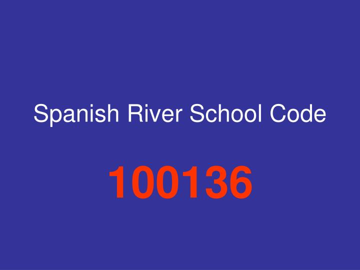 Spanish River School Code