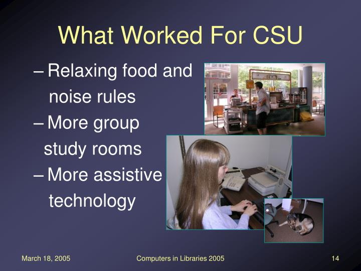 What Worked For CSU