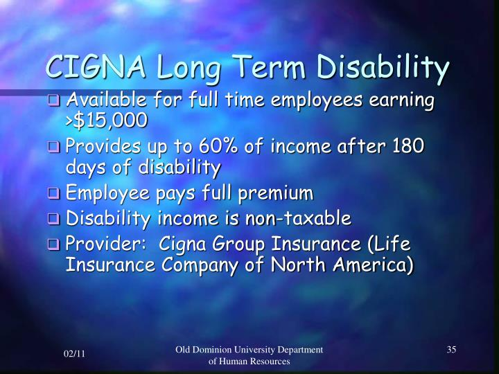 CIGNA Long Term Disability
