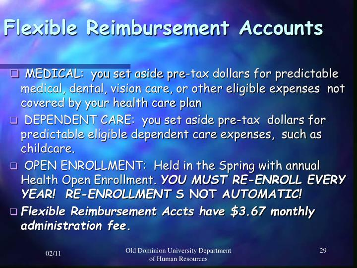 Flexible Reimbursement Accounts