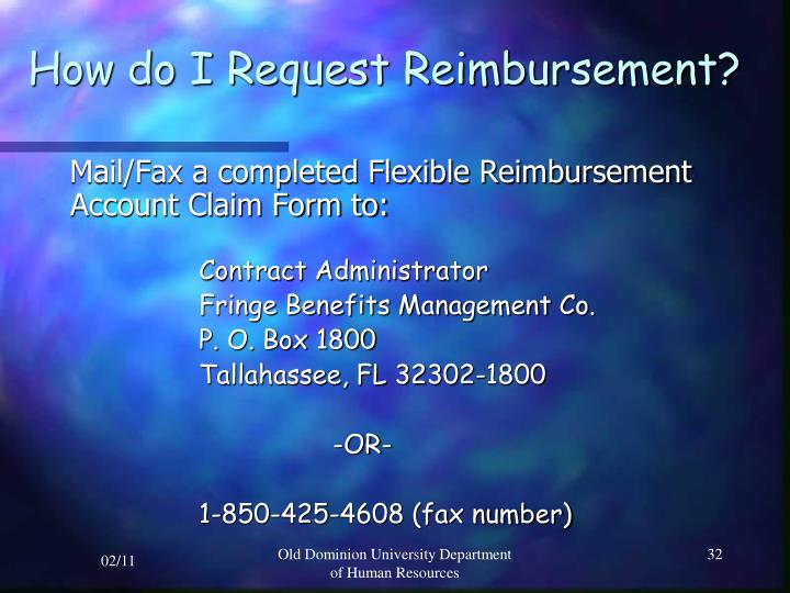 How do I Request Reimbursement?