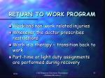 return to work program