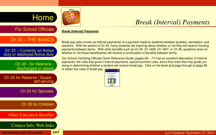 Break (Interval) Payments