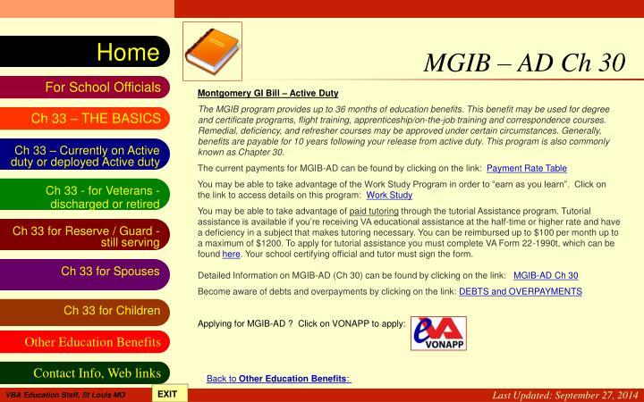 MGIB – AD Ch 30