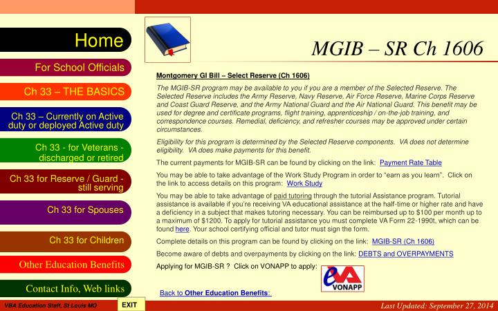 MGIB – SR Ch 1606