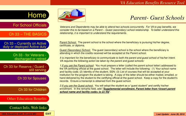 Parent- Guest Schools