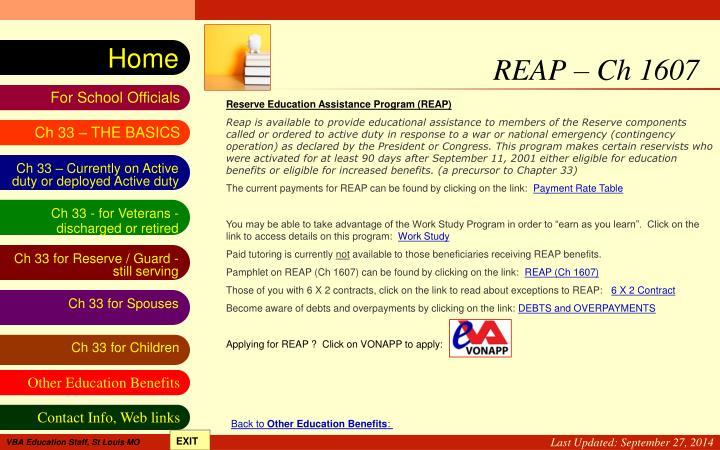 REAP – Ch 1607