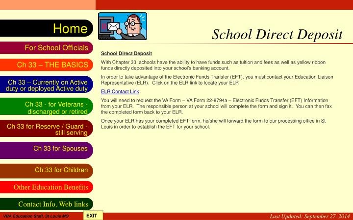 School Direct Deposit