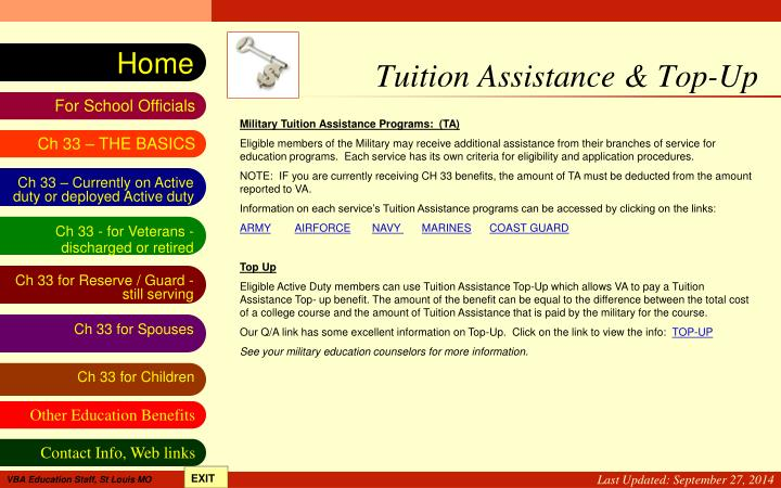 Tuition Assistance & Top-Up