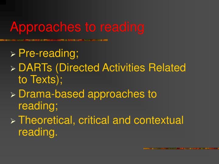 Pre-reading;