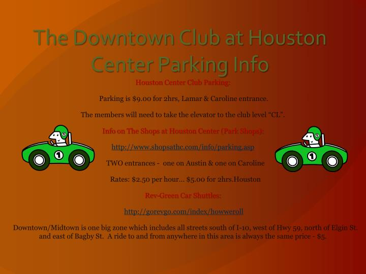 The Downtown Club at