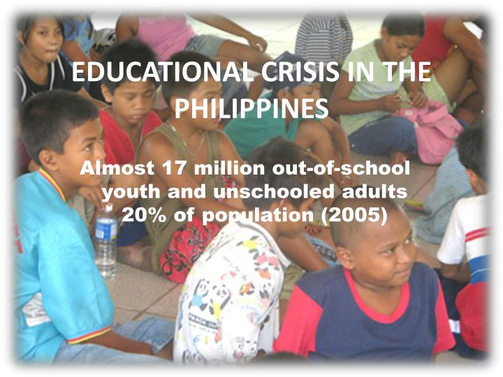 Almost 17 million out-of-school youth and unschooled adults