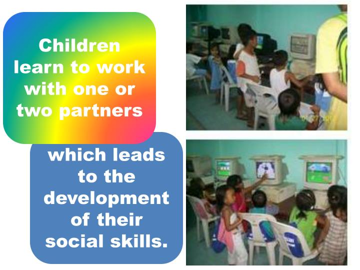 Children learn to work with one or two partners