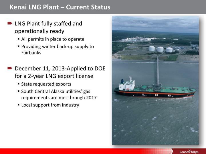 Kenai LNG Plant – Current Status