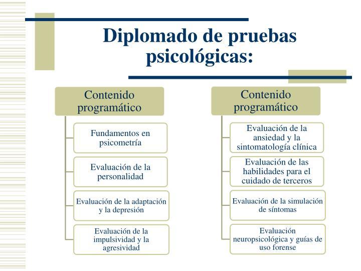 Diplomado de pruebas psicológicas: