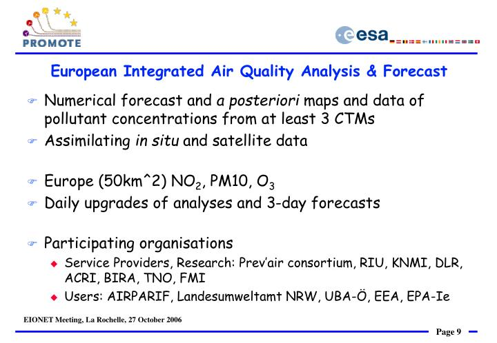 European Integrated Air Quality Analysis & Forecast