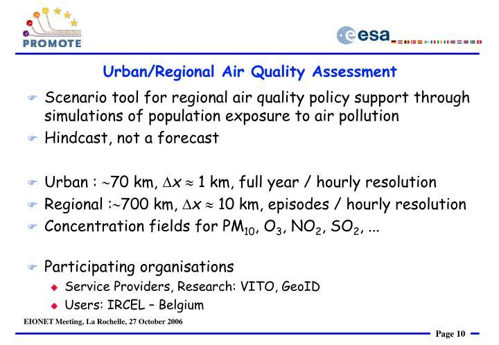 Urban/Regional Air Quality Assessment