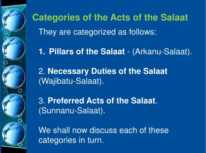 Categories of the Acts of the