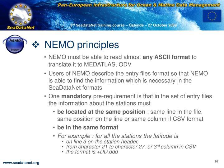 NEMO principles
