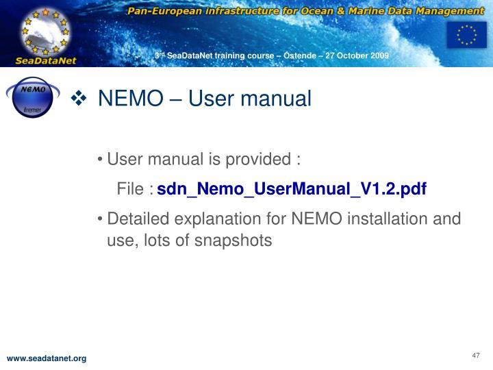 NEMO – User manual