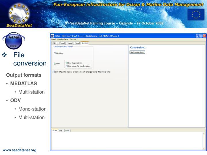 File conversion