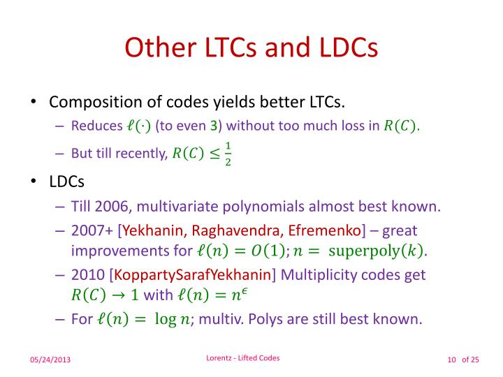 Other LTCs and LDCs