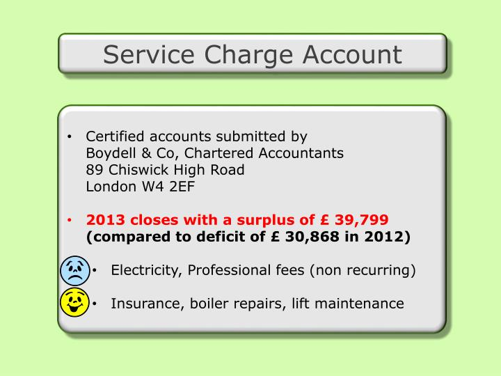 Service Charge Account