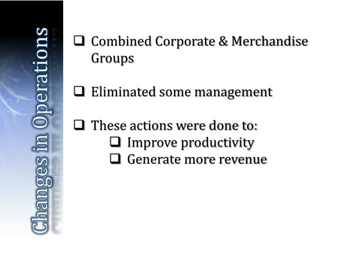 Combined Corporate & Merchandise Groups