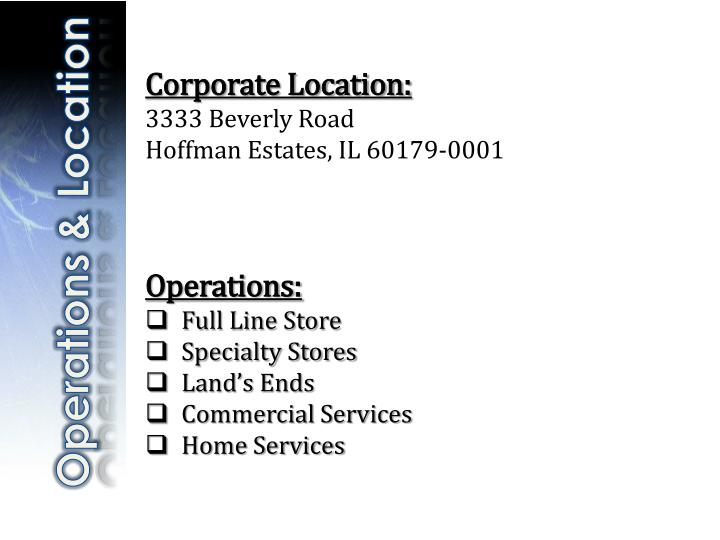 Corporate Location: