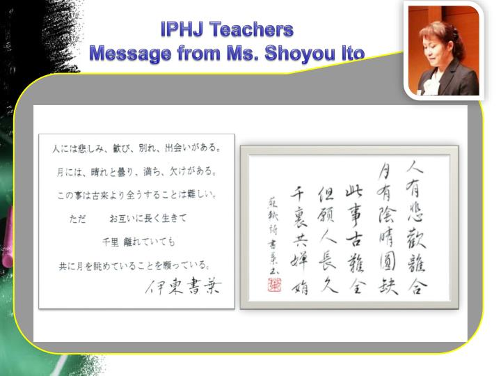 IPHJ Teachers
