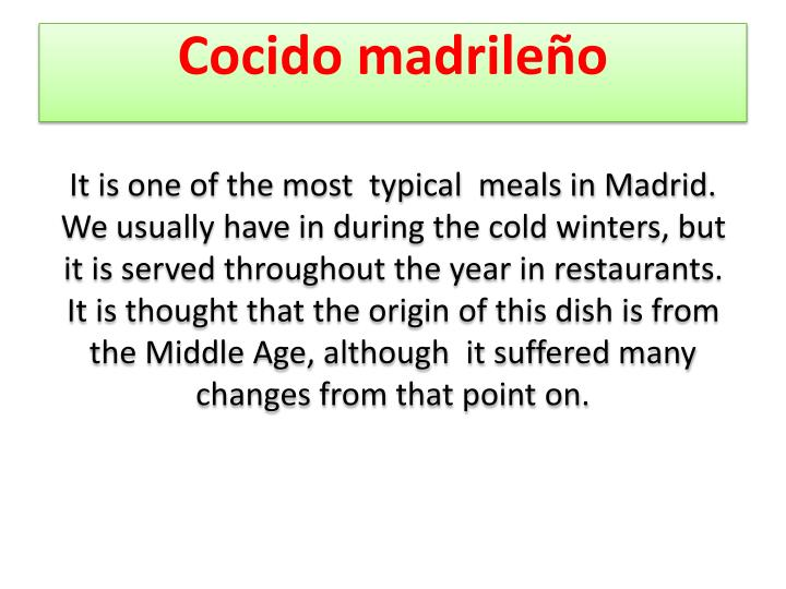 Cocido